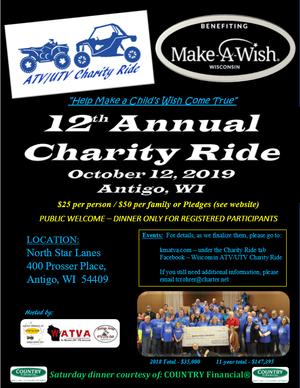 12th Annual ATV/UTV Charity Ride for Make-A-Wish Wisconsin