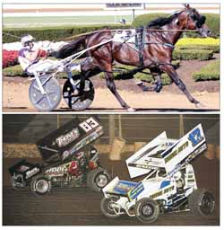 Harness racing and winged sprint cars will both compete on the racetrack as part of the Langlade County Fair July 24 through 28.